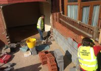 Builders at Work in Wrexham